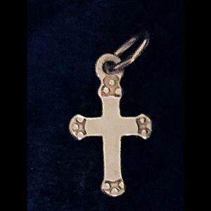 "Charm-925 Sterling Silver Cross, 1/2"""